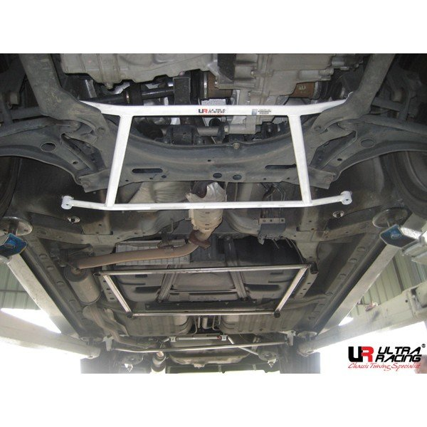 Ultra Racing Strebe vorn unten 4-Punkt - 03-08 Honda City (GD8) 1.5 (2WD) / 01-08 Honda Jazz/Fit (GD1) 1.5 (2WD)