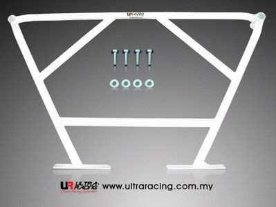 Ultra Racing Strebe hinten unten 4-Punkt - 01-08 Honda Jazz/Fit (GD1) 1.5 (2WD)
