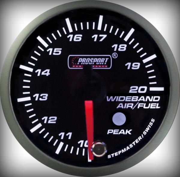 Prosport Racing Premium Serie Breitband 52 mm, blau-weiß, Smoked