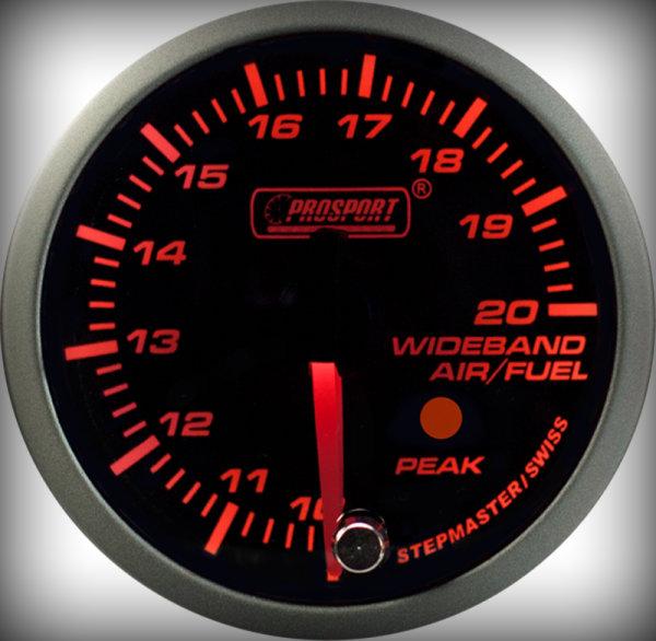 Prosport Racing Premium Serie Breitband 52 mm, orange-weiß, Smoked