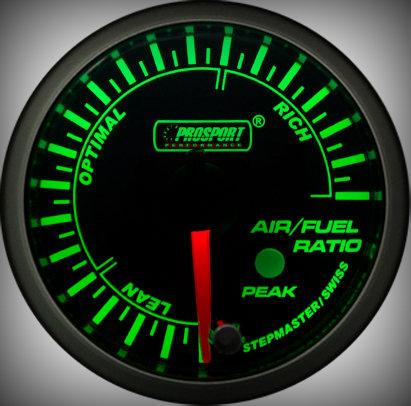 Prosport Racing Premium Serie Benzin-Luft Gemisch 52 mm, grün-weiß, Smoked