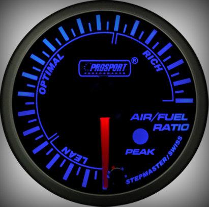 Prosport Racing Premium Serie Benzin-Luft Gemisch 60 mm, blau-weiß, Smoked
