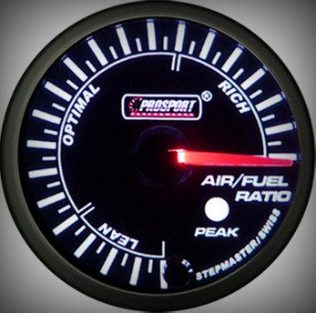 Prosport Racing Premium Serie Benzin-Luft Gemisch 60 mm, grün-weiß, Smoked