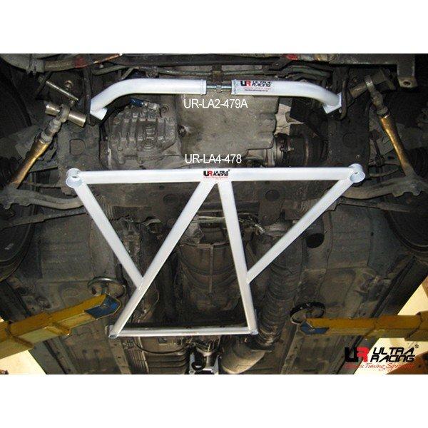 Ultra Racing Strebe vorn unten 4-Punkt - 88-94 Nissan Skyline GT-R R32 2.6TT (4WD)