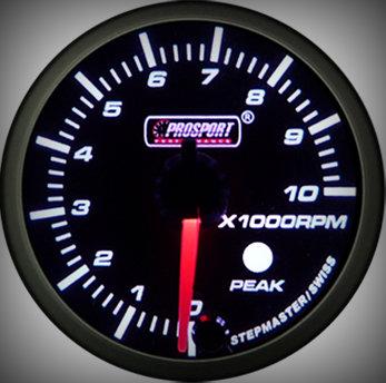 Prosport Racing Premium Serie Drehzahlmesser 60 mm, grün-weiß, Benziner