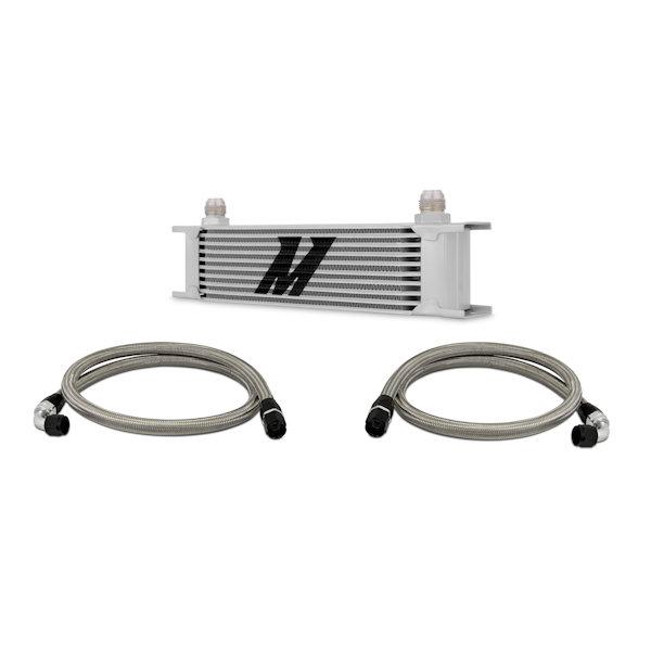 Mishimoto Ölkühler Kit 10-Reihen - universal silber ohne Thermostat