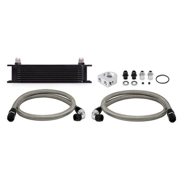 Mishimoto Ölkühler Kit 10-Reihen - universal schwarz ohne Thermostat