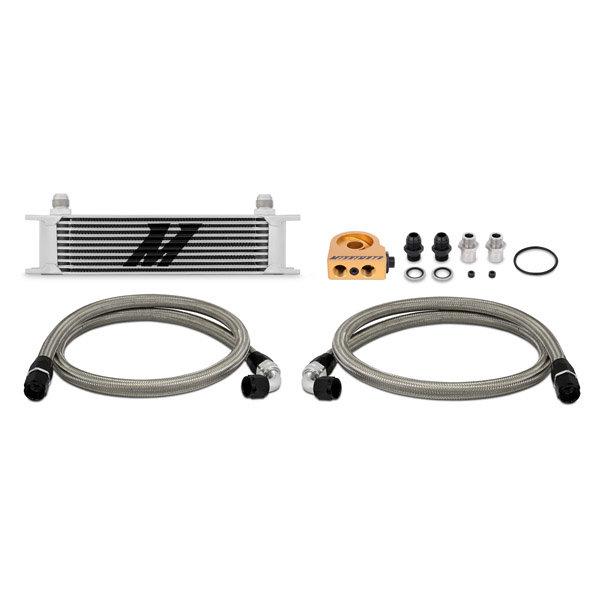 Mishimoto Ölkühler Kit 10-Reihen - universal silber mit Thermostat