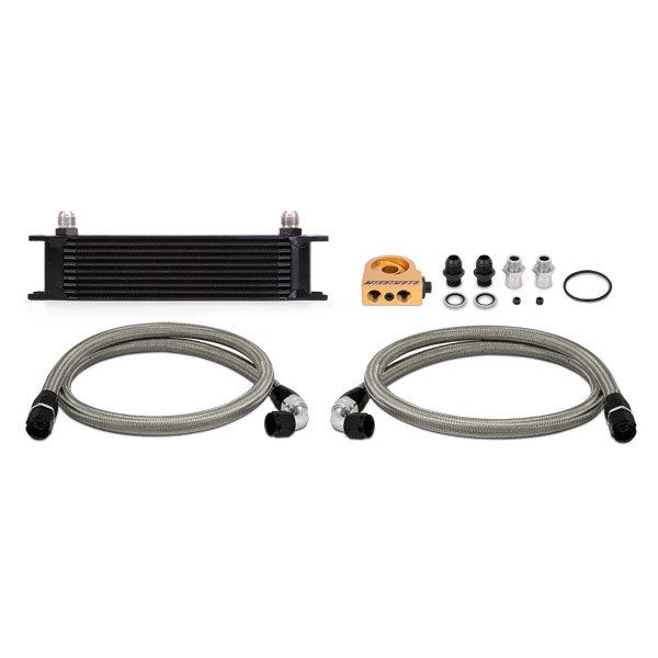 Mishimoto Ölkühler Kit 10-Reihen - universal schwarz mit Thermostat