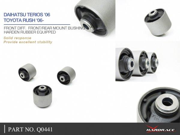 Hardrace Buchsen Differentialhalter vorn (Hartgummi) - 06-17 Daihatsu Terios J200/F700